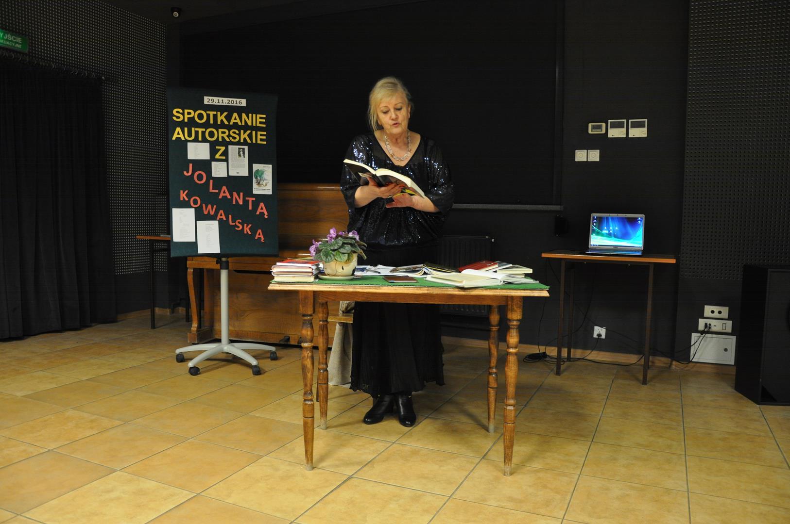 Spotkanie z poetką Jolantą Kowalską 2016