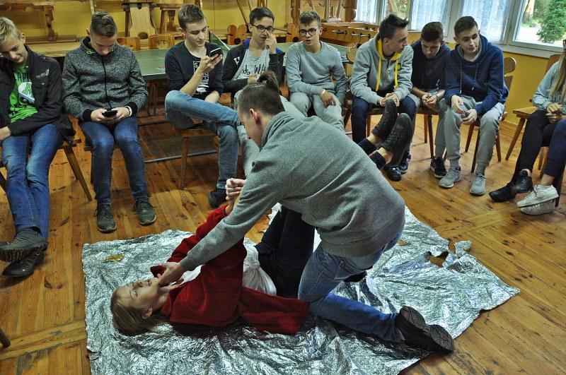 Wrześniowy obóz pierwszej pomocy w Wielonku